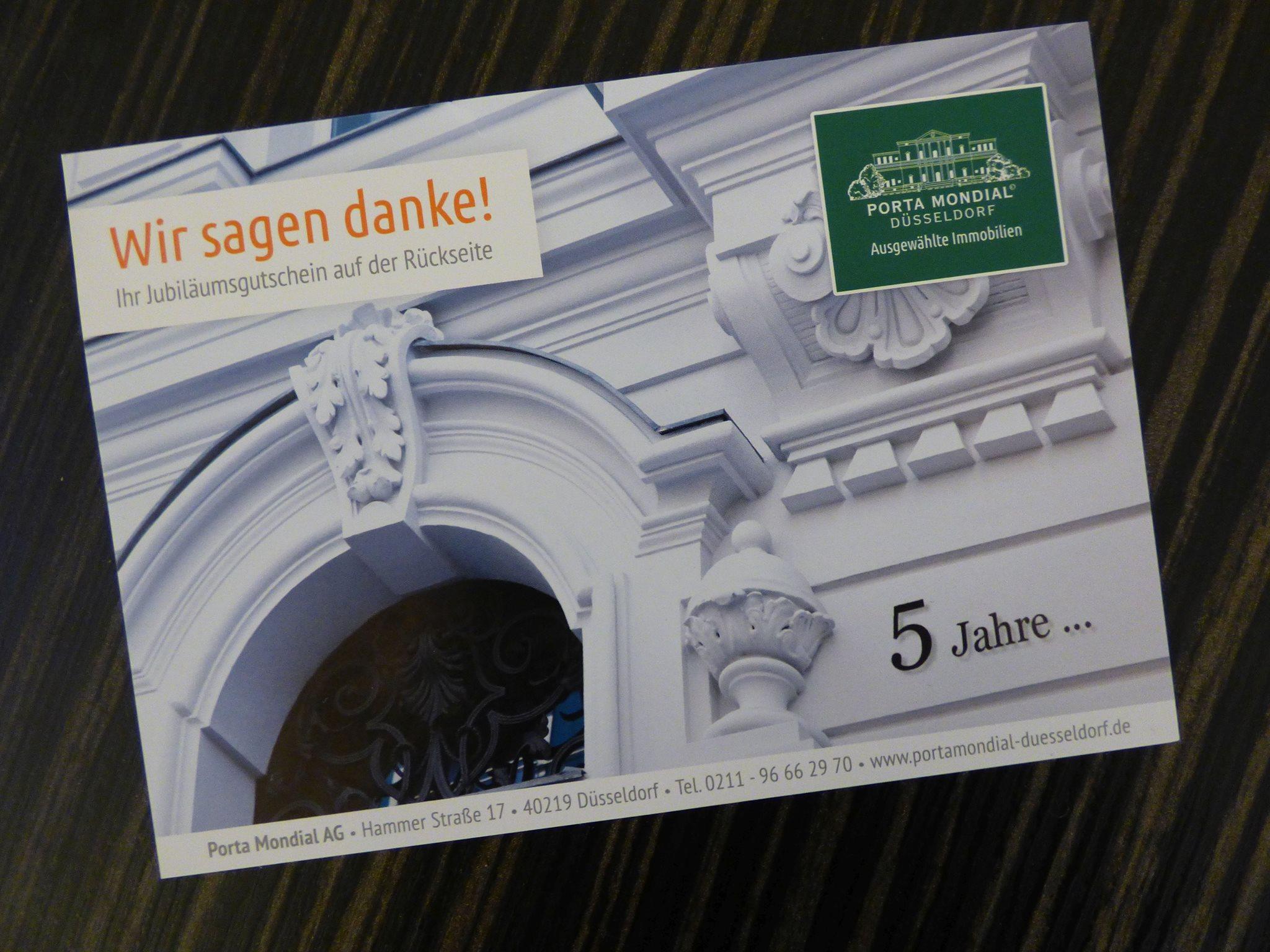 Porta Mondial comenzó su andadura en Düsseldorf hace cinco años. Actualmente su sistema de franquicias comprende cinco oficinas en Renania del Norte-Westfalia.